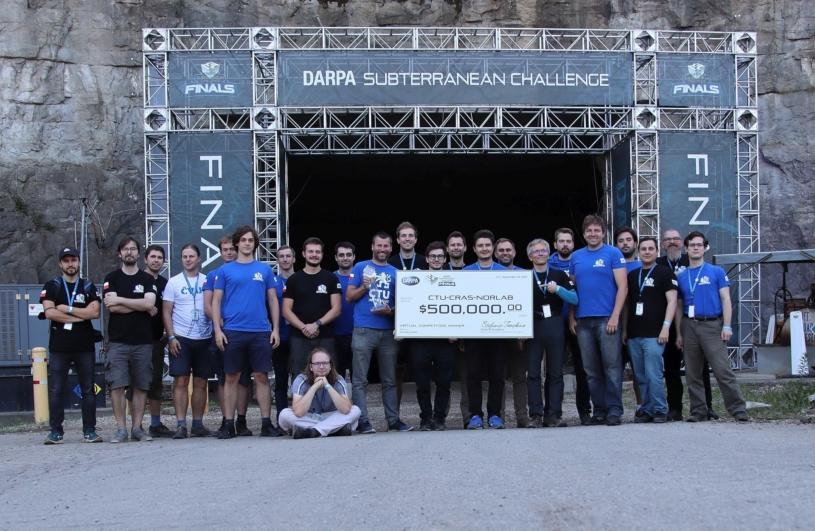 The CTU-CRAS-NORLAB team during the DARPA Subterranean Challenge finals