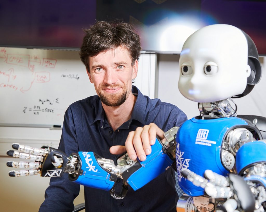 The CTU's ensemble of humanoid robots has welcomed a new addition named iCub